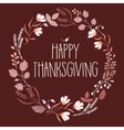 happy Thanksgiving day leaves crown vector image vector image