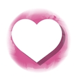 heart love isolated icon vector image vector image