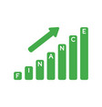 icon concept of finance sales bar graph moving up vector image