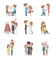 life cycle of a couple vector image vector image
