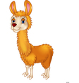 Llama cute cartoon vector image