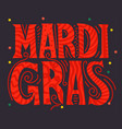 mardi gras carnival party banner vector image
