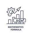 mathematics formula line icon concept mathematics vector image