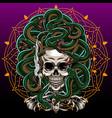 medusa skull esport mascot logo design vector image