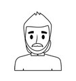 modern arab man cartoon vector image vector image