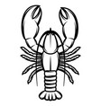 monochrome with lobster for vector image