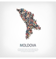 people map country Moldova vector image