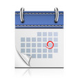 Realistic Detailed Calendar Icon vector image