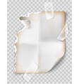 realistic vintage torn sheet notebook paper vector image