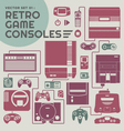 Retro Game Consoles vector image