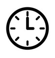 round clock time on white background vector image vector image