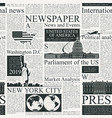 seamless pattern on theme us newspapers vector image vector image
