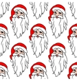 Seamless pattern with funny Santa vector image vector image