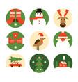 set christmas emblems vector image