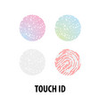 set of icons touch recognition vector image vector image