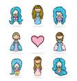 set of princesses vector image
