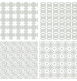 set of seamless lacy patterns vector image vector image