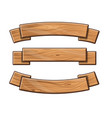 set of wooden plates vector image