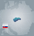 slovakia information map vector image vector image