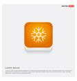 snow flake icon orange abstract web button vector image vector image