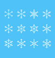 snowflake thin line icons set outline web sign vector image