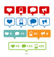 social media signs and symbols vector image vector image