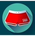 Sport Beach Shorts icon Flat design style vector image vector image