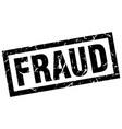 square grunge black fraud stamp vector image vector image