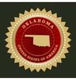 Star label Oklahoma vector image vector image