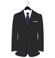 Suit on hanger vector image
