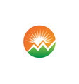sun logo and symbols star icon web vector image vector image