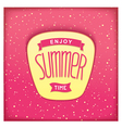 Sweet summer sticker vector image vector image