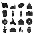 symbol denmark buildings and other web icon in vector image