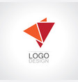 triangle shape abstract logo vector image vector image