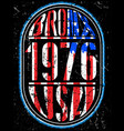 usa bronx vintage t shirt graphic design about vector image vector image