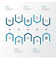 user outline icons set collection of stabilizer vector image vector image