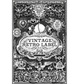 Vintage Hand Drawn Graphic Banners on Blackboard