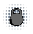 Weight comics icon vector image vector image