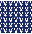 White Rabbit Navy Blue Background vector image vector image