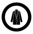 woman overcoat black icon in circle vector image vector image