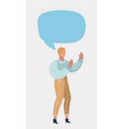 woman telling a story blank speech bubble vector image vector image