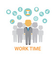 work time icon working process organization vector image vector image