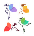 beautiful abstract lgirls look like a colorful vector image