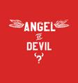angel or devil vector image