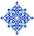 artistic ottoman pattern series ninety nine vector image vector image