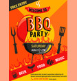 Bbq party invitation flyer