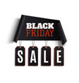 black friday background curved paper banner vector image vector image