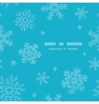 Blue lace snowflakes textile template frame vector image vector image