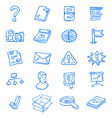 Blue web icons vector image vector image