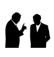 boss giving order or warning his employee vector image vector image